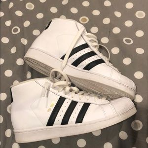 adidas Shoes - Adidas superstar high tops